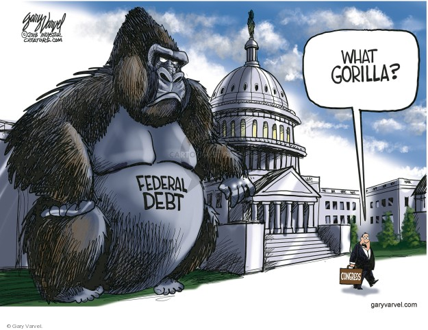 Cartoonist Gary Varvel  Gary Varvel's Editorial Cartoons 2018-03-11 government budget