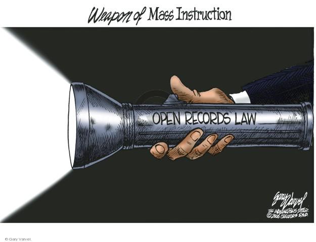 Cartoonist Gary Varvel  Gary Varvel's Editorial Cartoons 2018-03-14 open