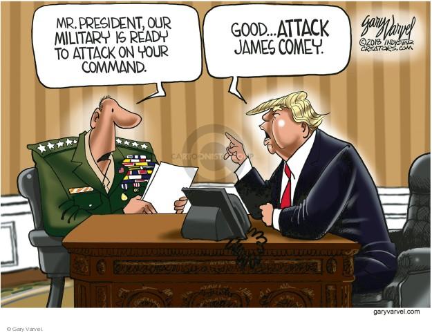 Cartoonist Gary Varvel  Gary Varvel's Editorial Cartoons 2018-04-16 attack