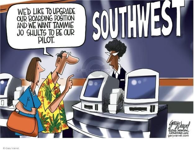Cartoonist Gary Varvel  Gary Varvel's Editorial Cartoons 2018-04-22 airline