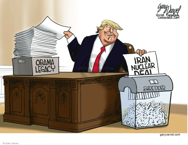 Cartoonist Gary Varvel  Gary Varvel's Editorial Cartoons 2018-05-13 weapon