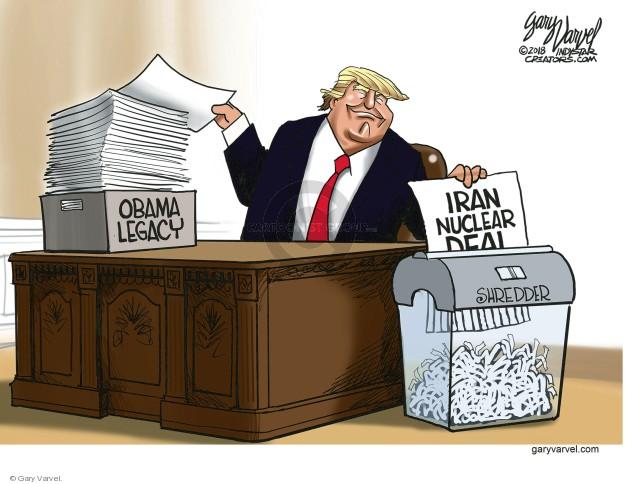 Cartoonist Gary Varvel  Gary Varvel's Editorial Cartoons 2018-05-13 nuclear