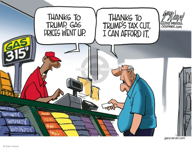 Cartoonist Gary Varvel  Gary Varvel's Editorial Cartoons 2018-05-27 economy