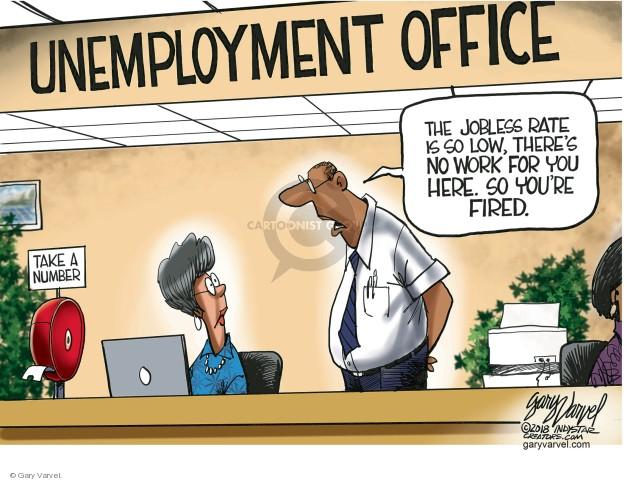 Cartoonist Gary Varvel  Gary Varvel's Editorial Cartoons 2018-06-04 unemployment
