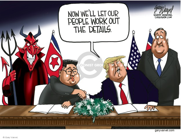 Gary Varvel  Gary Varvel's Editorial Cartoons 2018-06-13 peace