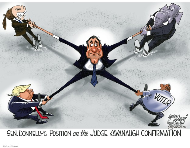 Cartoonist Gary Varvel  Gary Varvel's Editorial Cartoons 2018-07-12 supreme court justice
