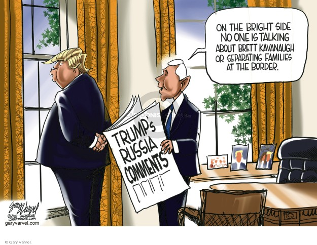 Cartoonist Gary Varvel  Gary Varvel's Editorial Cartoons 2018-07-22 white