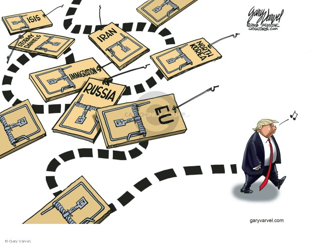 Cartoonist Gary Varvel  Gary Varvel's Editorial Cartoons 2018-07-29 Korea