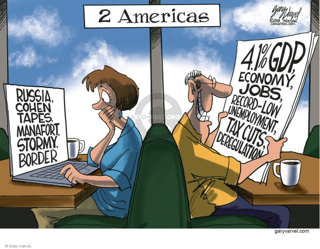 Cartoonist Gary Varvel  Gary Varvel's Editorial Cartoons 2018-07-31 economy