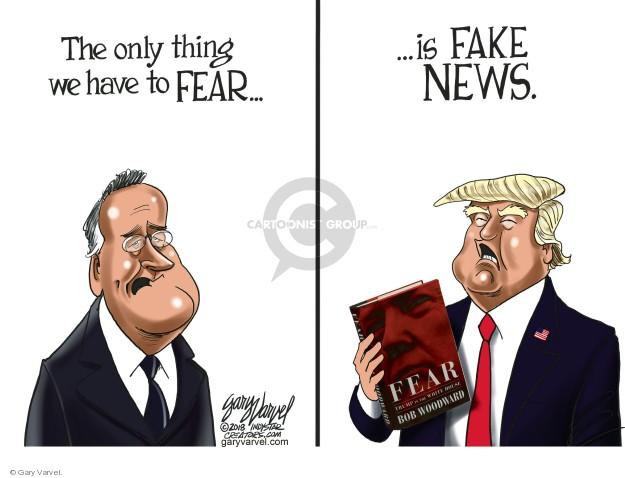 Gary Varvel  Gary Varvel's Editorial Cartoons 2018-09-09 fear