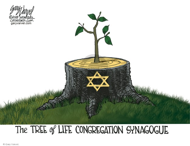 Gary Varvel  Gary Varvel's Editorial Cartoons 2018-10-30 Judaism