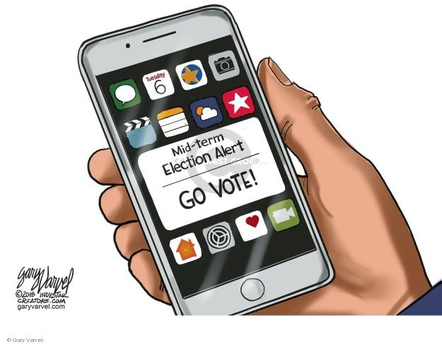 Gary Varvel  Gary Varvel's Editorial Cartoons 2018-11-02 midterm election