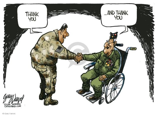 Cartoonist Gary Varvel  Gary Varvel's Editorial Cartoons 2018-11-11 military