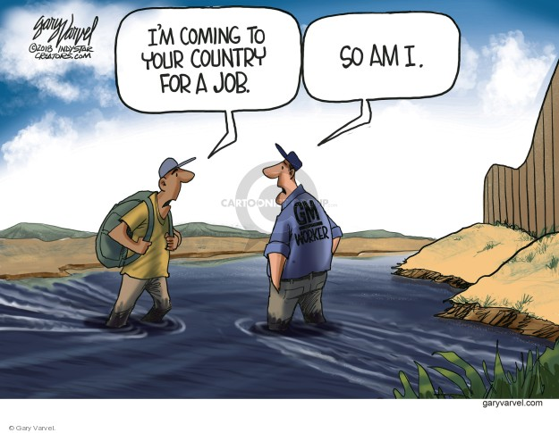 Cartoonist Gary Varvel  Gary Varvel's Editorial Cartoons 2018-12-02 unemployment