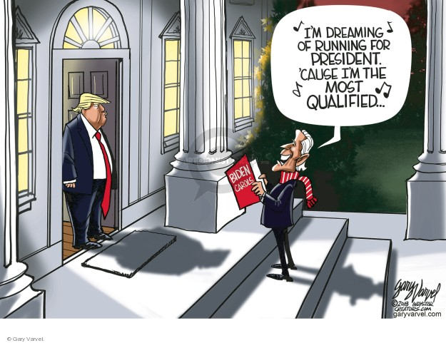 Cartoonist Gary Varvel  Gary Varvel's Editorial Cartoons 2018-12-09 vice president