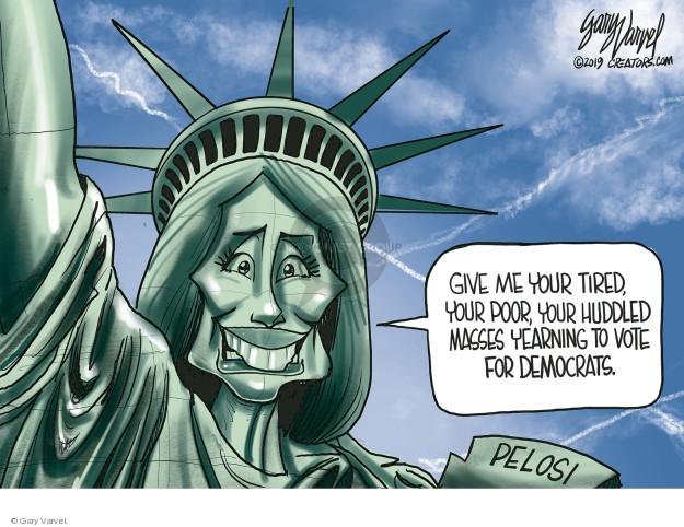 Cartoonist Gary Varvel  Gary Varvel's Editorial Cartoons 2019-01-11 immigrant