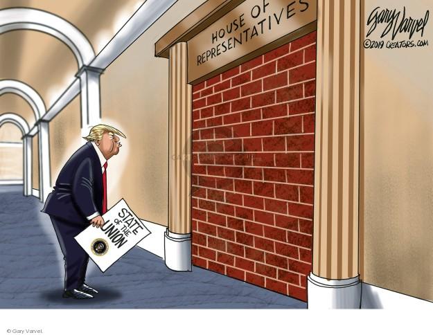 Cartoonist Gary Varvel  Gary Varvel's Editorial Cartoons 2019-01-17 federal