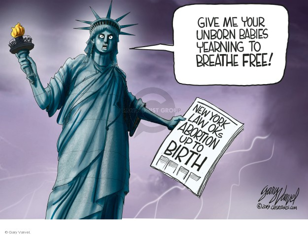 Cartoonist Gary Varvel  Gary Varvel's Editorial Cartoons 2019-01-25 law