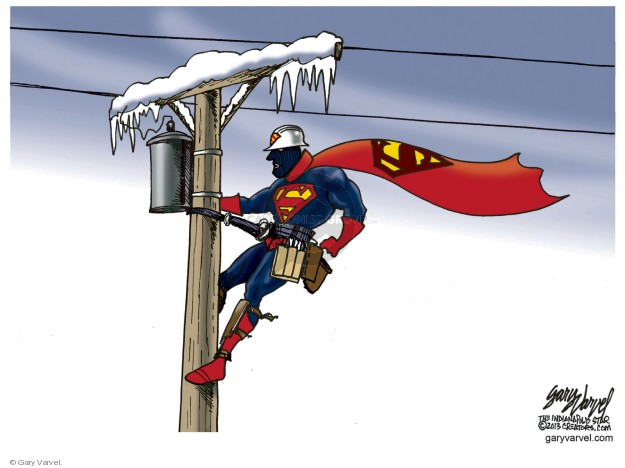 Cartoonist Gary Varvel  Gary Varvel's Editorial Cartoons 2019-01-31 winter storm