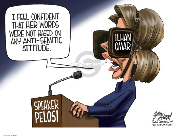 Cartoonist Gary Varvel  Gary Varvel's Editorial Cartoons 2019-03-09 congresswoman