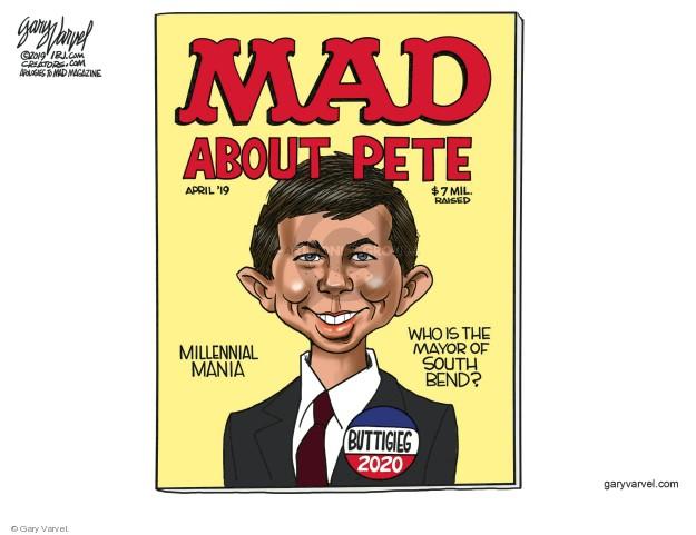 Cartoonist Gary Varvel  Gary Varvel's Editorial Cartoons 2019-04-19 mayor