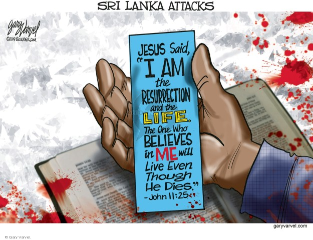 Cartoonist Gary Varvel  Gary Varvel's Editorial Cartoons 2019-04-22 church