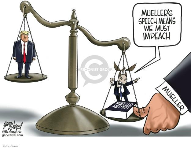 Muellers speech means we must impeach. Mueller report. Mueller.