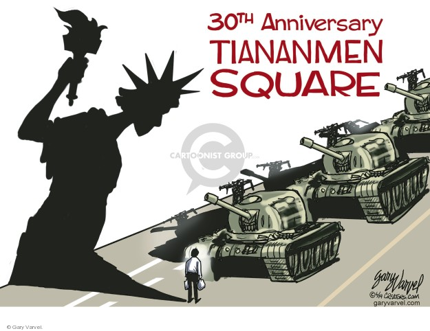 Cartoonist Gary Varvel  Gary Varvel's Editorial Cartoons 2019-06-06 civil liberty