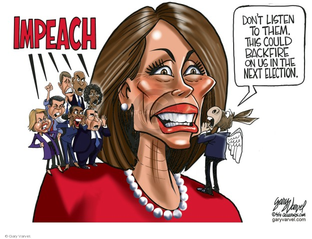 Cartoonist Gary Varvel  Gary Varvel's Editorial Cartoons 2019-06-07 congresswoman