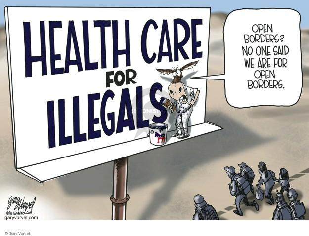 Gary Varvel  Gary Varvel's Editorial Cartoons 2019-07-05 illegal immigration