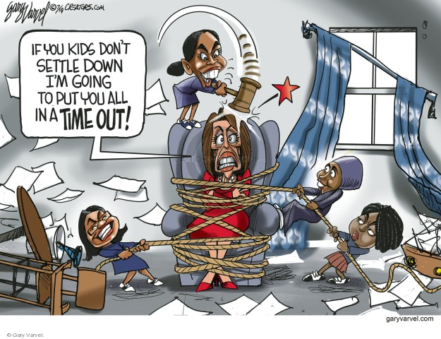 Cartoonist Gary Varvel  Gary Varvel's Editorial Cartoons 2019-07-13 congresswoman