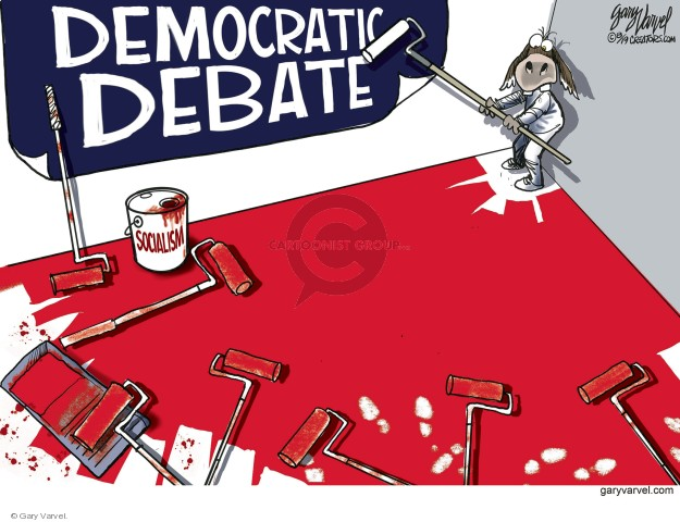 Gary Varvel  Gary Varvel's Editorial Cartoons 2019-08-04 election debate
