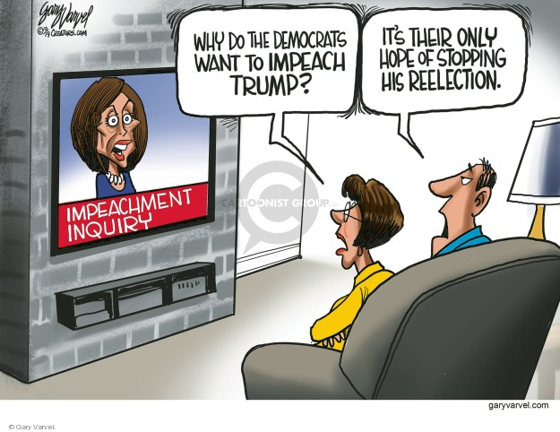 Cartoonist Gary Varvel  Gary Varvel's Editorial Cartoons 2019-10-01 congresswoman