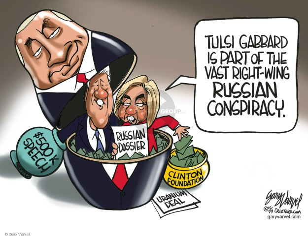Gary Varvel  Gary Varvel's Editorial Cartoons 2019-10-22 2016 Election Russian Interference