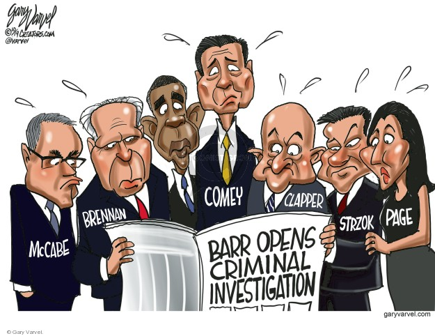 Gary Varvel  Gary Varvel's Editorial Cartoons 2019-10-25 investigation