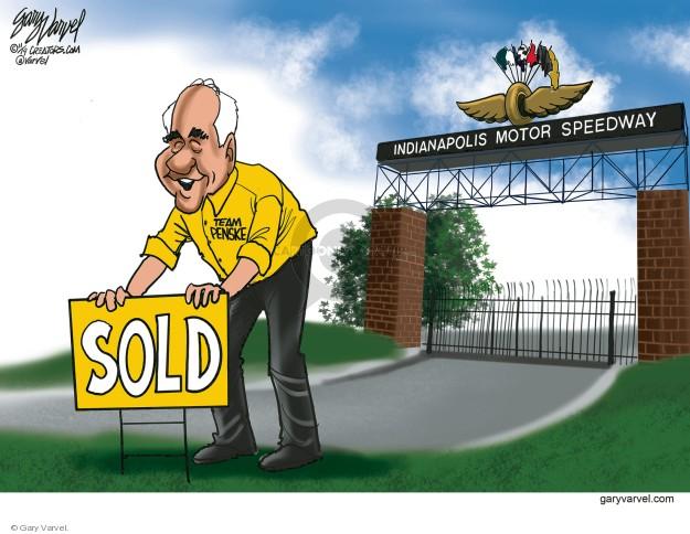 Indianapolis Motor Speedway. Sold. Team Penske.