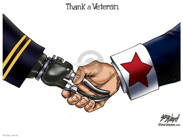 Cartoonist Gary Varvel  Gary Varvel's Editorial Cartoons 2019-11-11 military
