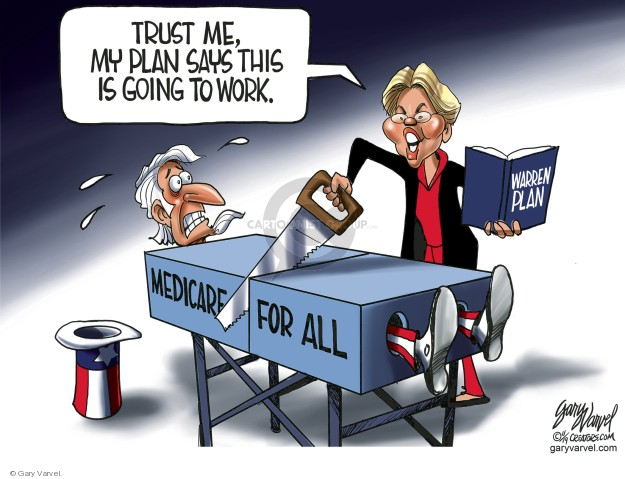 Gary Varvel  Gary Varvel's Editorial Cartoons 2019-11-12 medical insurance