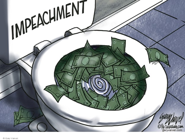 Cartoonist Gary Varvel  Gary Varvel's Editorial Cartoons 2019-11-18 congressional investigation