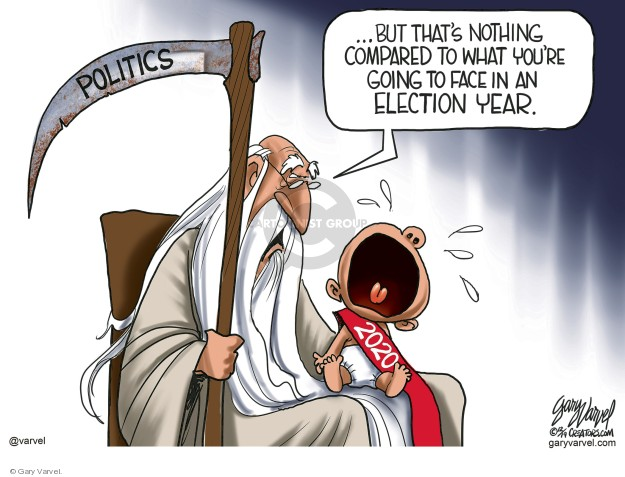 Gary Varvel  Gary Varvel's Editorial Cartoons 2019-12-29 2020 election