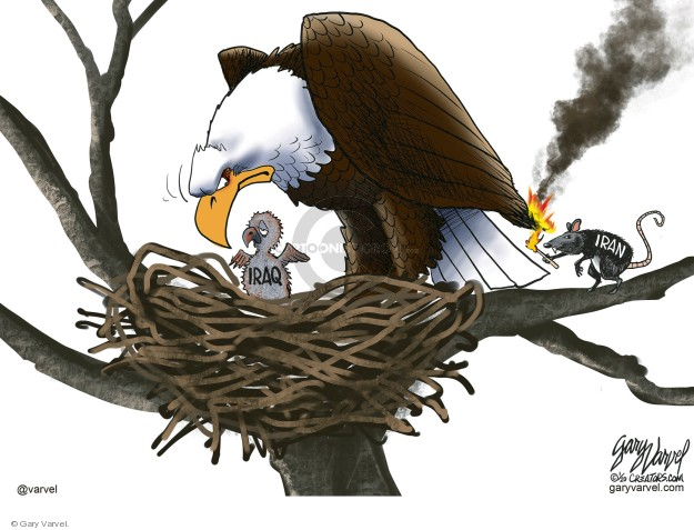 Cartoonist Gary Varvel  Gary Varvel's Editorial Cartoons 2020-01-02 Iraq