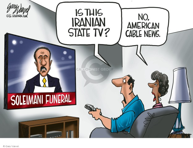Cartoonist Gary Varvel  Gary Varvel's Editorial Cartoons 2020-01-08 cable news