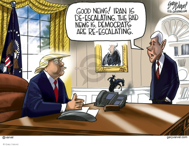 Cartoonist Gary Varvel  Gary Varvel's Editorial Cartoons 2020-01-09 international politics