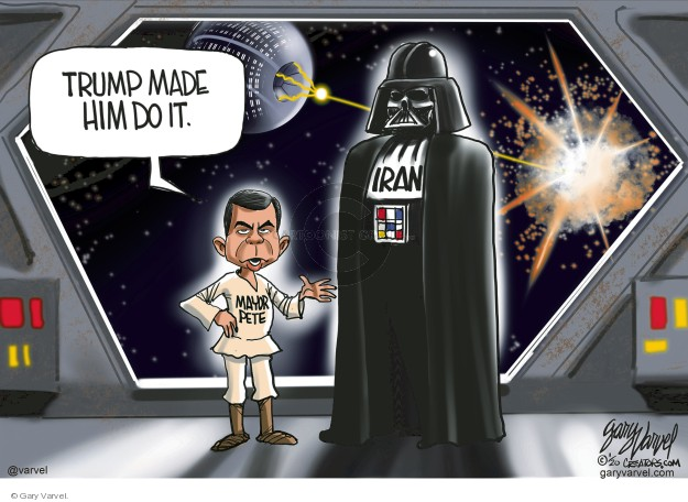 Cartoonist Gary Varvel  Gary Varvel's Editorial Cartoons 2020-01-10 international politics