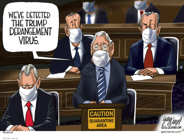 Cartoonist Gary Varvel  Gary Varvel's Editorial Cartoons 2020-01-25 presidential administration