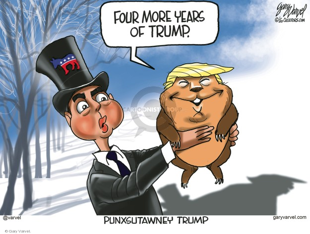 Cartoonist Gary Varvel  Gary Varvel's Editorial Cartoons 2020-01-30 presidential administration