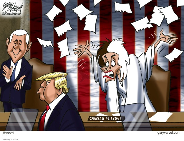 Cartoonist Gary Varvel  Gary Varvel's Editorial Cartoons 2020-02-05 presidential administration