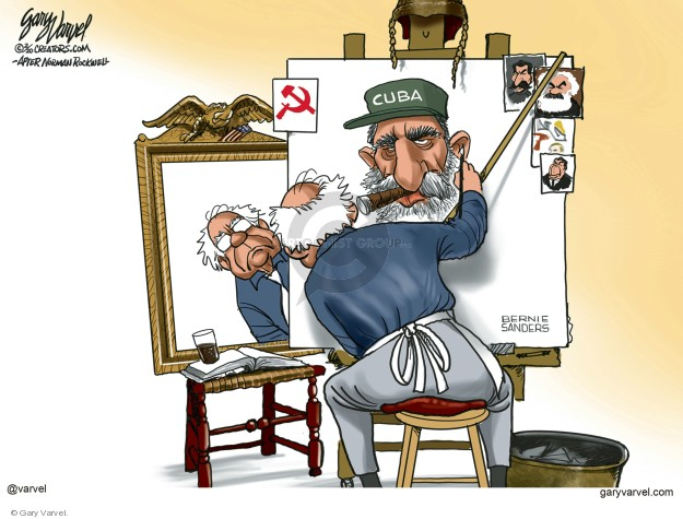 Cartoonist Gary Varvel  Gary Varvel's Editorial Cartoons 2020-02-24 2020 election