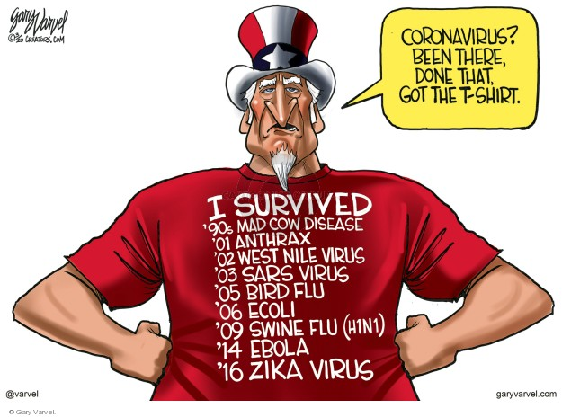 Cartoonist Gary Varvel  Gary Varvel's Editorial Cartoons 2020-03-10 Zika virus