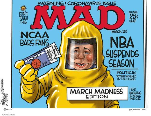 Gary Varvel  Gary Varvel's Editorial Cartoons 2020-03-12 coronavirus